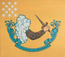 Revolutionary Battle Flag, 'Resistance to Tyrants is Obedience to God' 1776