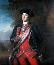 Washington as Colonel of the Virginia Regiment by Charles Willson Peale, 1772