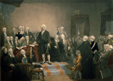 George Washington Addressing Congress